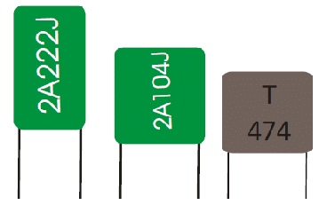 Non polarized capacitors