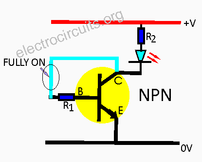 npn switch on