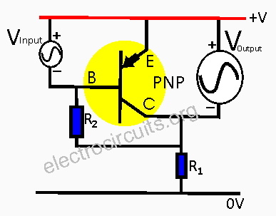 PNP transistor as voltage or current amplifier