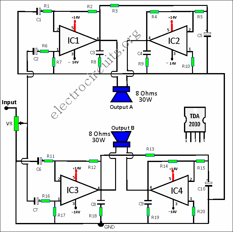 50w amplifier circuit diagram