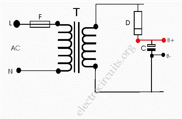 half wave using non center tapped
