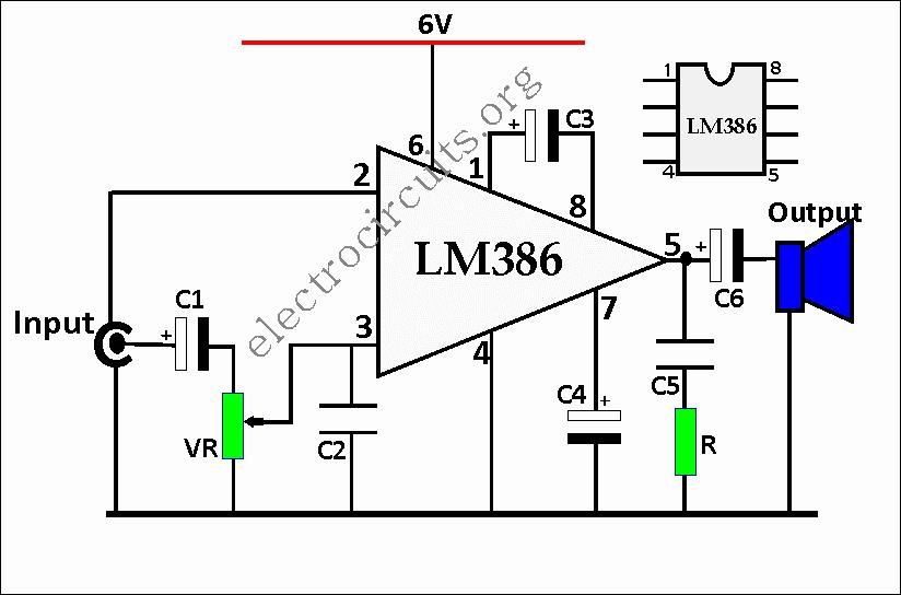 LM386 amplifier circuit